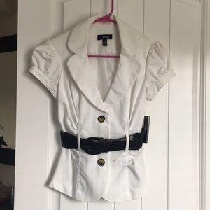 White A. Byers short sleeve blazer
